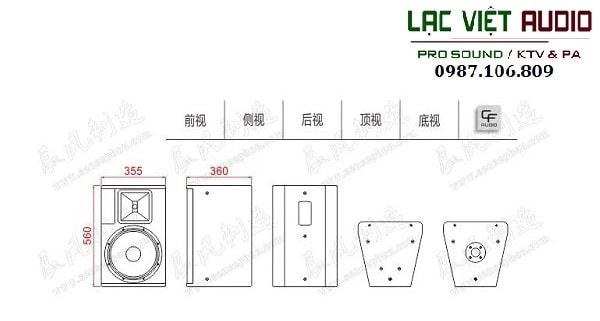 Thiết kế Loa CF TQ 12