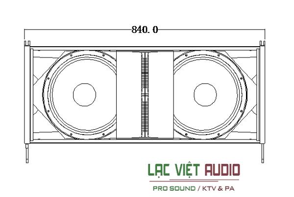loa array CVR W-4 bass kép 12 inch