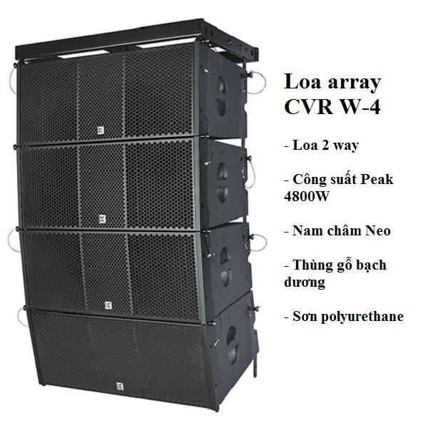 Loa array CVR W-4 chính hãng