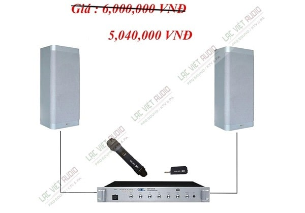 Lắp đặt âm thanh phòng học 45m2