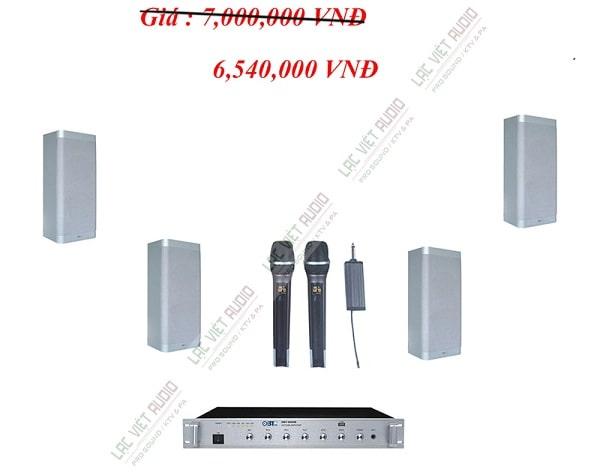 Lắp đặt âm thanh phòng học dùng 4 loa hộp