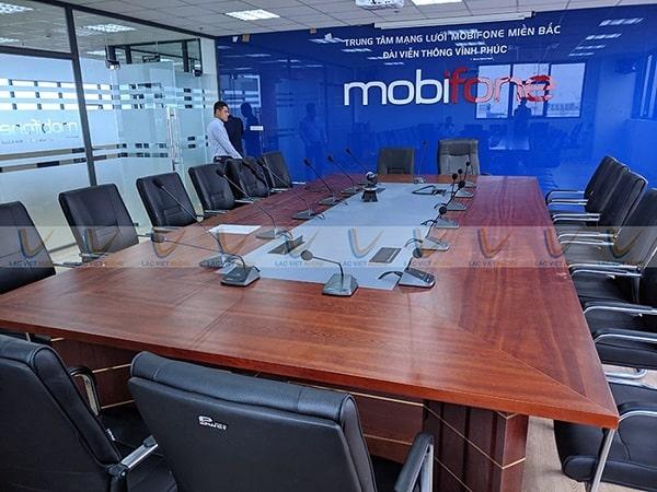 Lắp đặt âm thanh hội nghị Mobifone Vĩnh Phúc