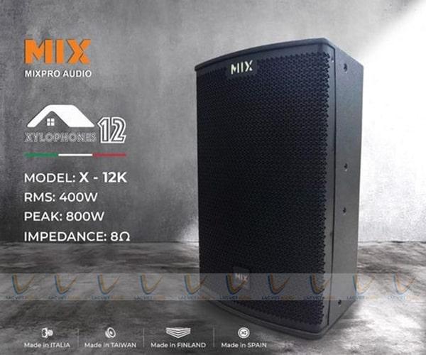 Loa karaoke MIX X-12K sở hữu vẻ ngoài cực hút mắt người dùng